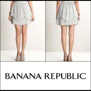 Banana Republic Silk Tiered Skirt